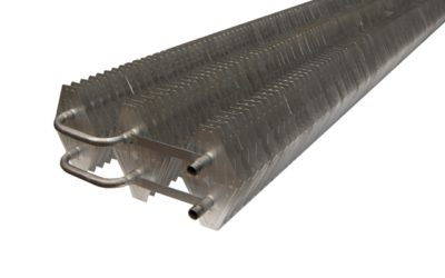 Static aluminium steel evaporators for large systems (direct and/or glycol expansion)