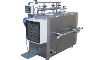 Mobile washing CIP unit with electronic control of the concentration