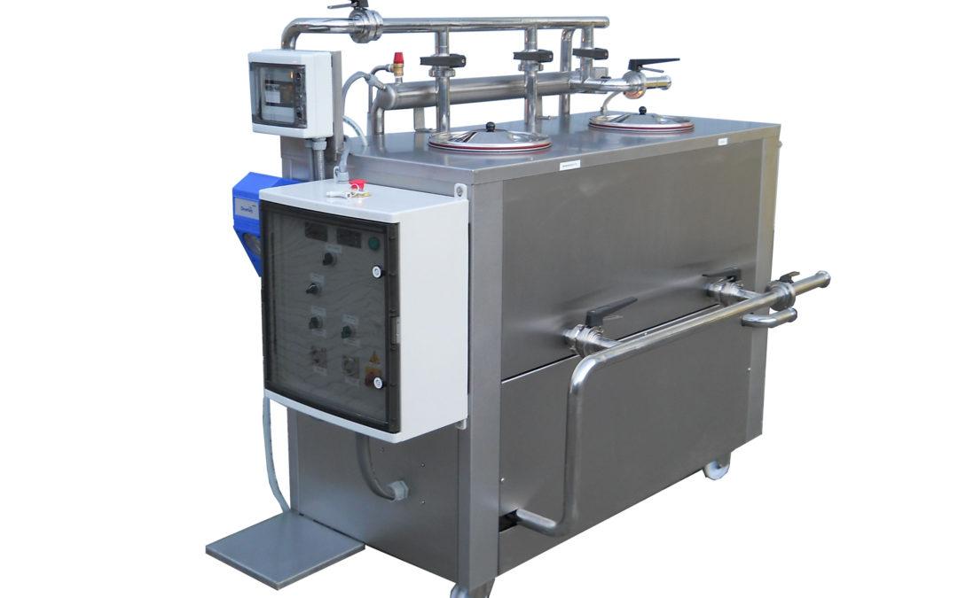 CIP di lavaggio mobile carrellato con controllo elettronico della concentrazione – NEW con iniezione disinfettante